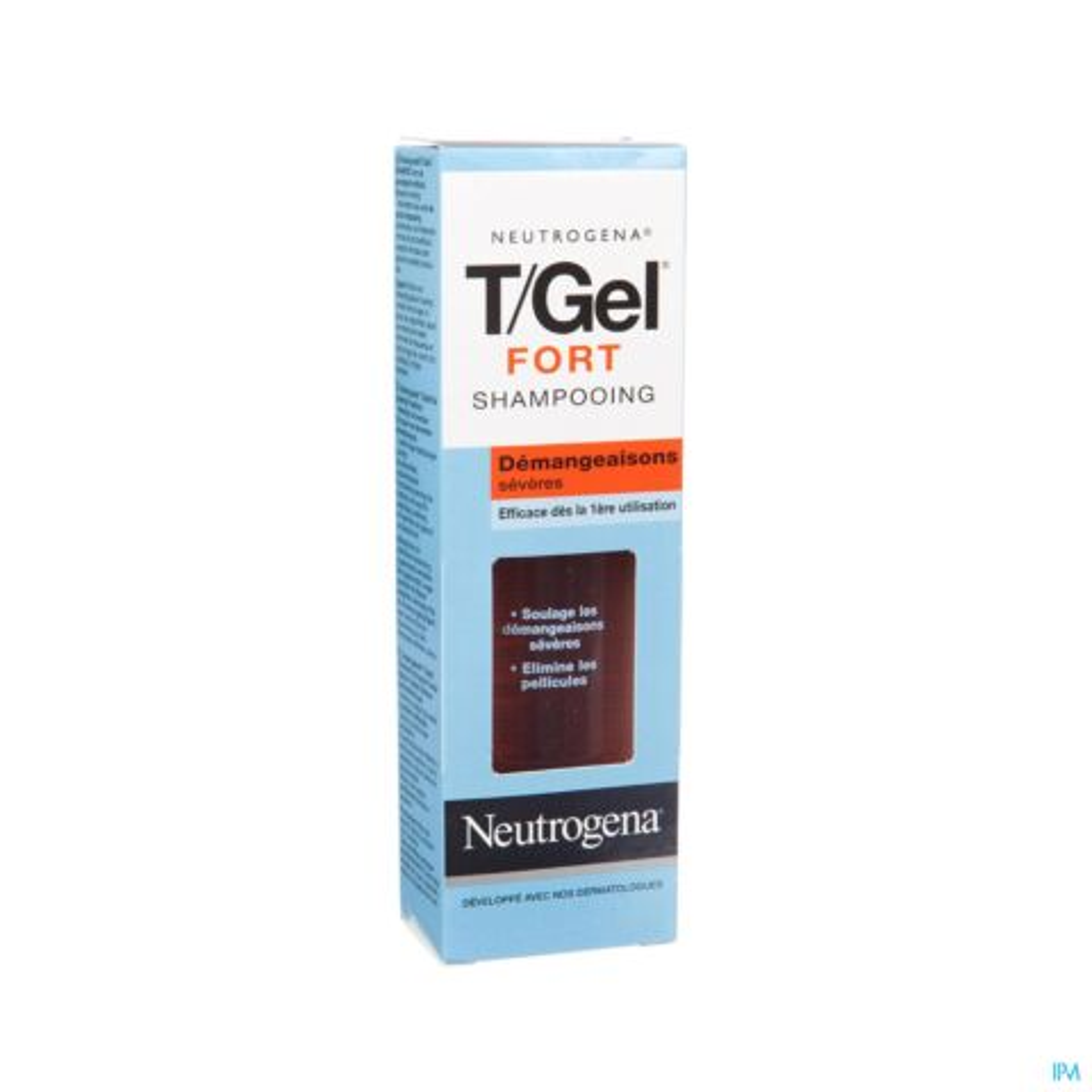 Neutrogena T/Gel Fort Shampooing Anti-Pelliculaire Démangeaisons Sévères Flacon 250ml