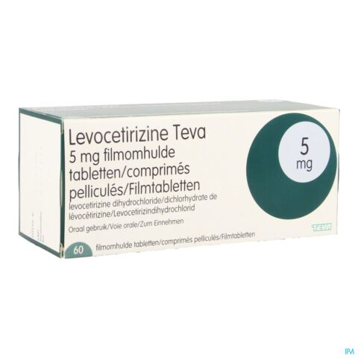 LEVOCETIRIZINE TEVA 5 MG COMP 60