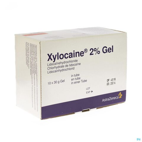 XYLOCAINE 2% GEL TUB. 10X30ML