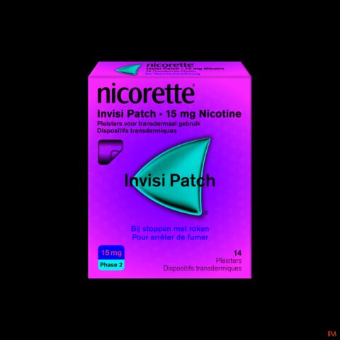 Nicorette Invisi Patch 15mg Nicotine 14 Patchs