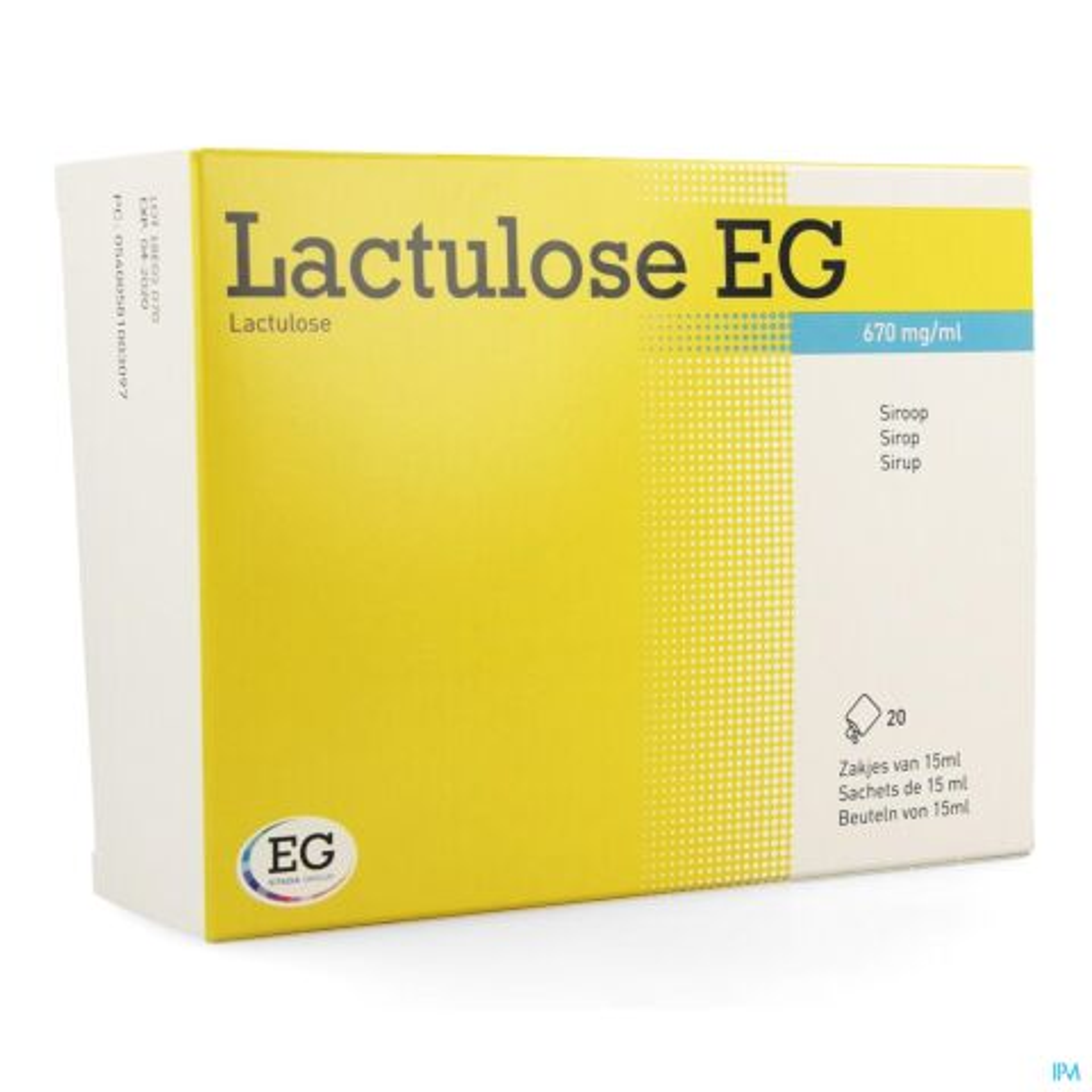 Lactulose EG 670mg/ml Sirop 20 Sachets de 15ml