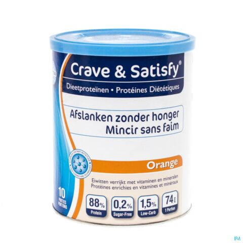 Crave Satisfy Proteines Diet Orange Pdr Pot 200g