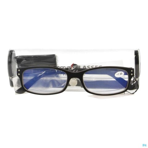 PHARMAGLASSES VISIONBLUE PC01 LUN.LECT.+1.00 BLACK