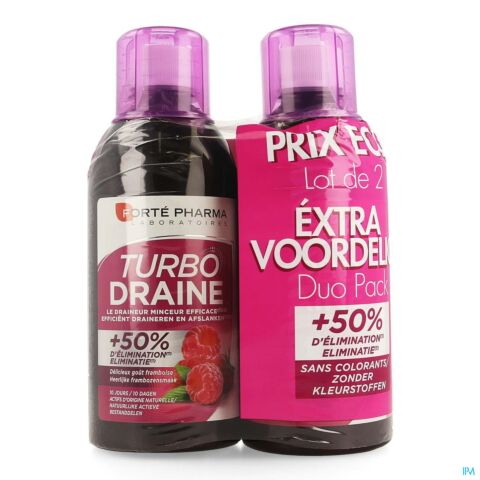 Forté Pharma TurboDraine Framboise Flacon Duo 2x500ml