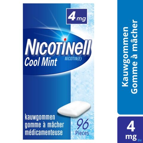 Nicotinell Cool Mint 4mg 96 Gommes à Mâcher