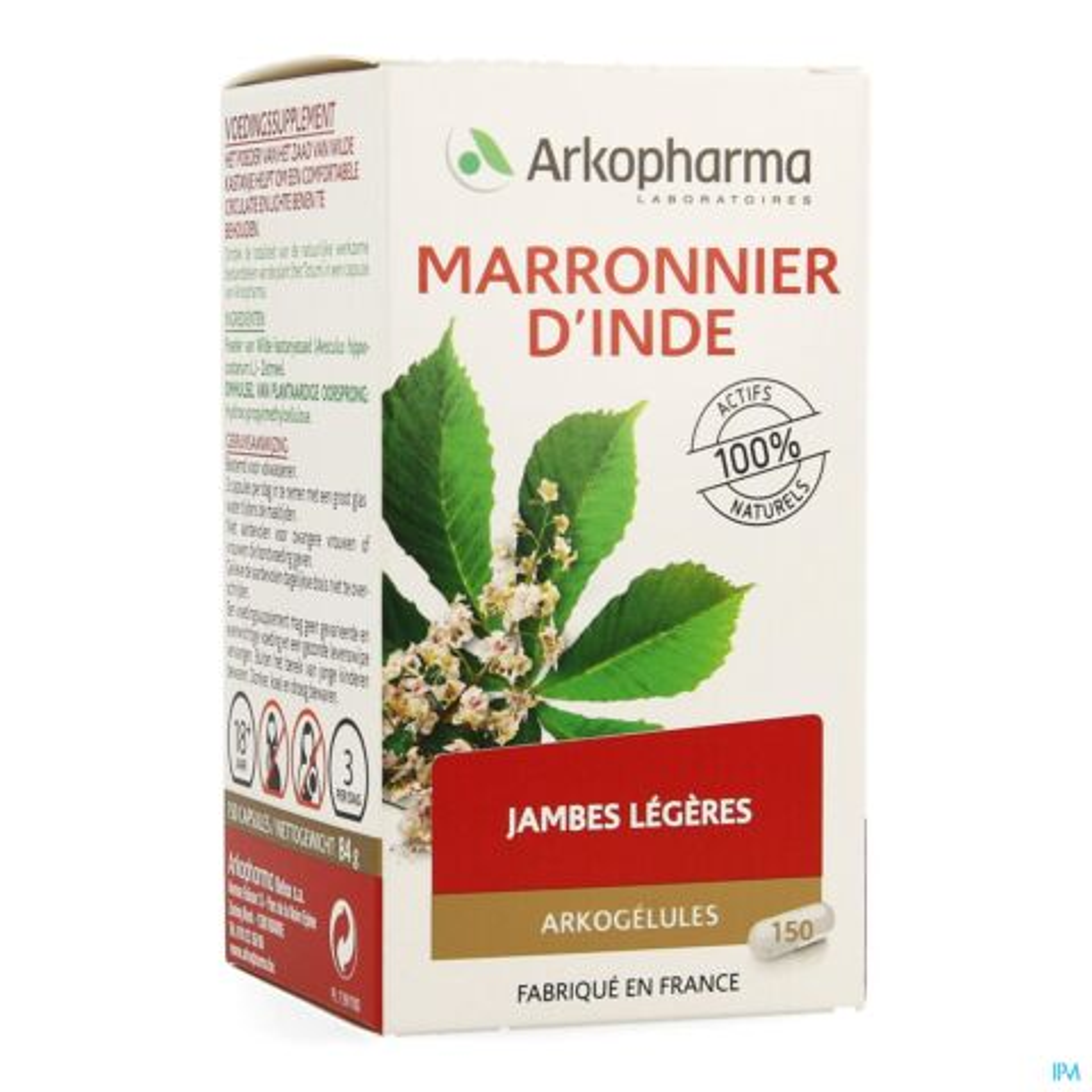 Arkopharma Arkogélules Marronnier d'Inde Jambes Lourdes & Troubles Hémorroïdaires 150 Gélules