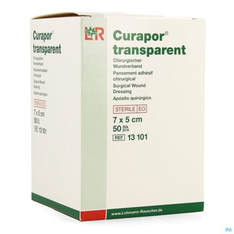 CURAPOR TRANSPARENT STERIL 7CMX 5CM 50 13101
