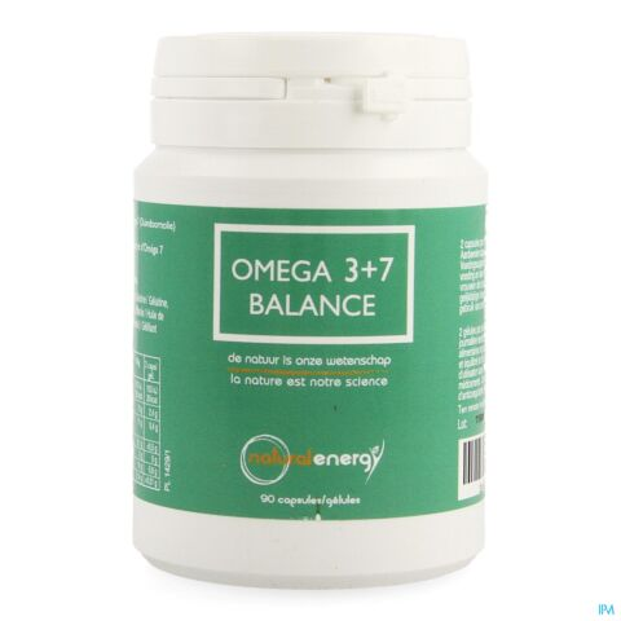 Natural Energy Omega 3+7 Balance 90 Gélules