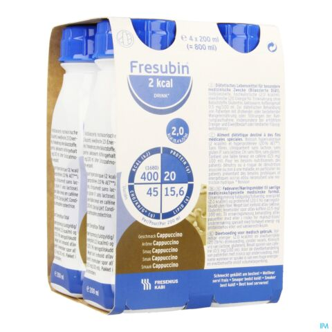 Fresubin 2kcal Drink Cappuccino Bouteille 4x200ml