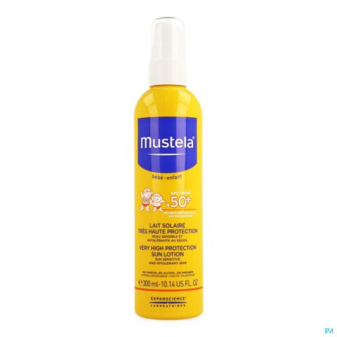 Mustela Baby Lait Solaire Très Haute Protection IP50+ Spray 300ml
