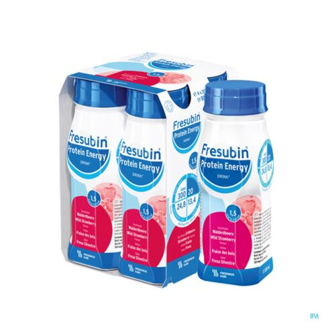 Fresubin Protein Energy Drink Fraise des Bois Bouteille 4x200ml