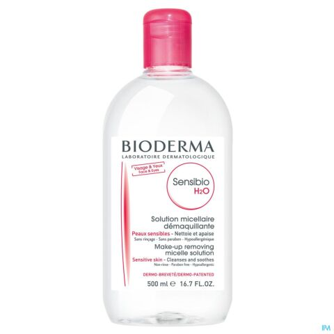 Bioderma Sensibio H2O Solution Micellaire Peaux Sensibles Flacon 500ml