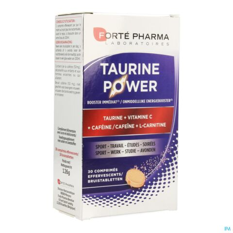 Forté Pharma Taurine Power Booster Immédiat 30 Comprimés Effervescents