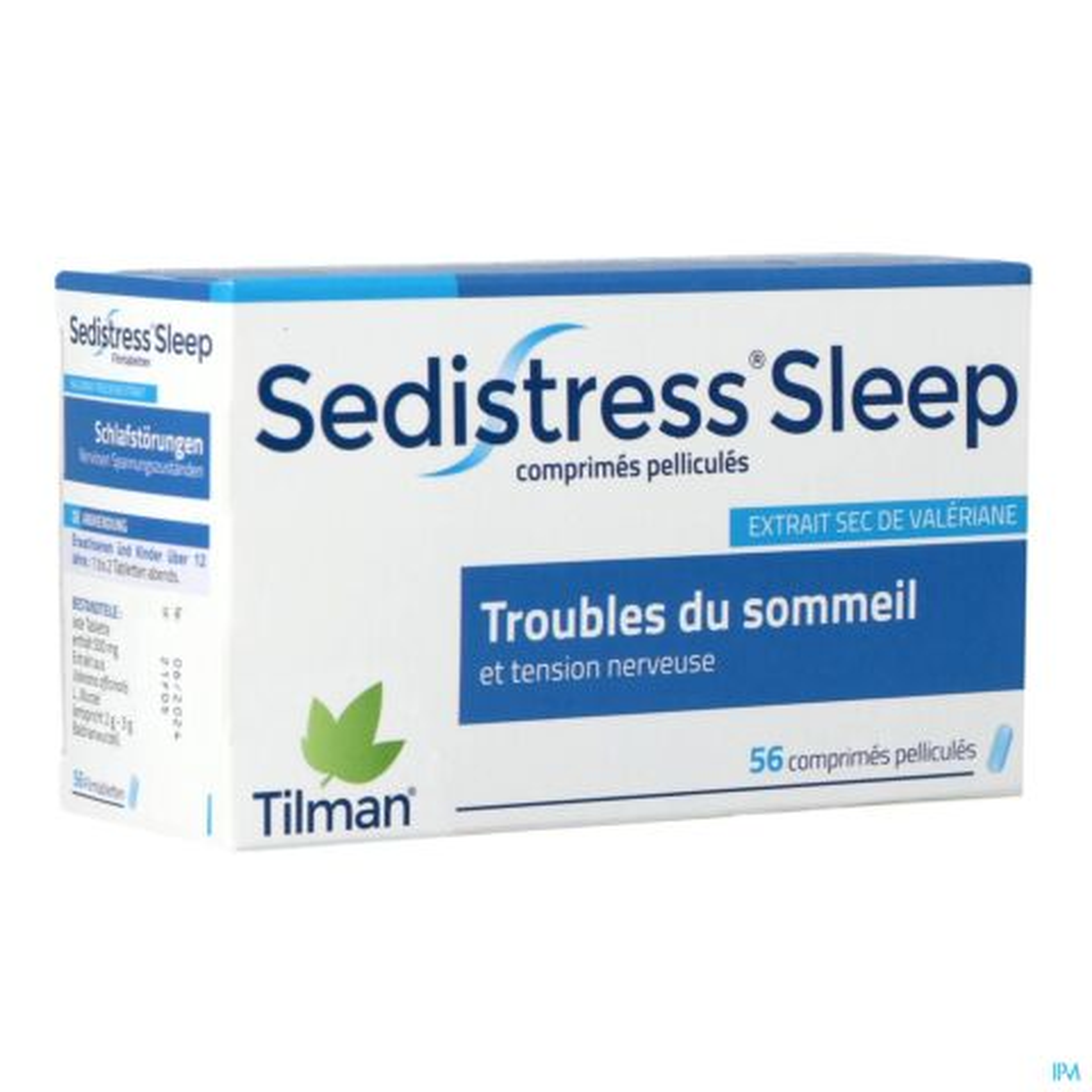 Sedistress Sleep 500mg Troubles du Sommeil Tension Nerveuse 56 Comprimés Pelliculés