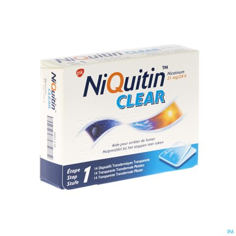 NiQuitin Clear Patch 21mg 14 Patchs