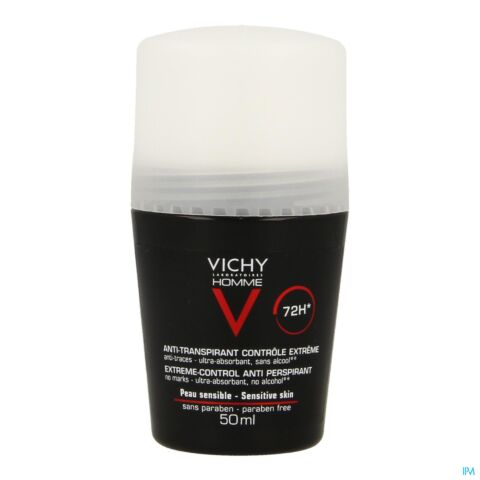 Vichy Homme Déodorant Anti-Transpirant 72h Roll-On 50ml