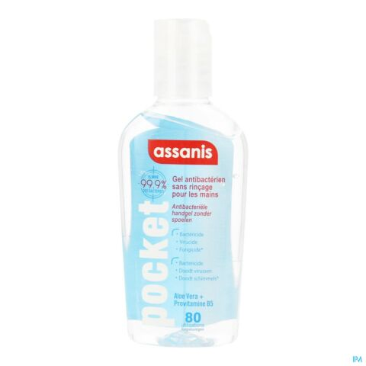 Assanis Gel Antibactérien Sans Rinçage pour les Mains Classic Pocket Flacon 80ml