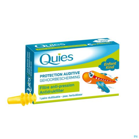 Quies Protection Auditive Avion Filtre Anti-Pression Enfant 1 Paire