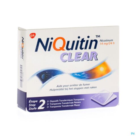 NiQuitin Clear Patch 14mg 21 Patchs