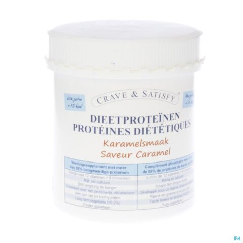 Crave & satisfy proteines diet.caramel pdr pot200g