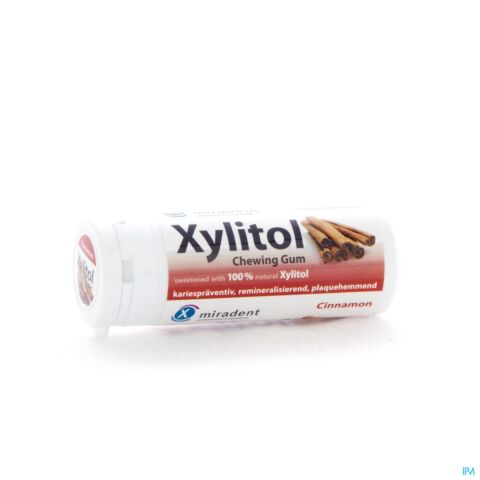 Miradent Xylitol Chewing Gum Cannelle 30 Pièces