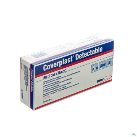 COVERPLAST DETECTABLE PANSEMENT 16X2CM 50 7117601