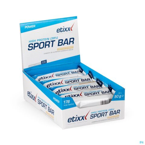 Etixx Power High Protein Bar Noix de Coco Vanille 12x50g