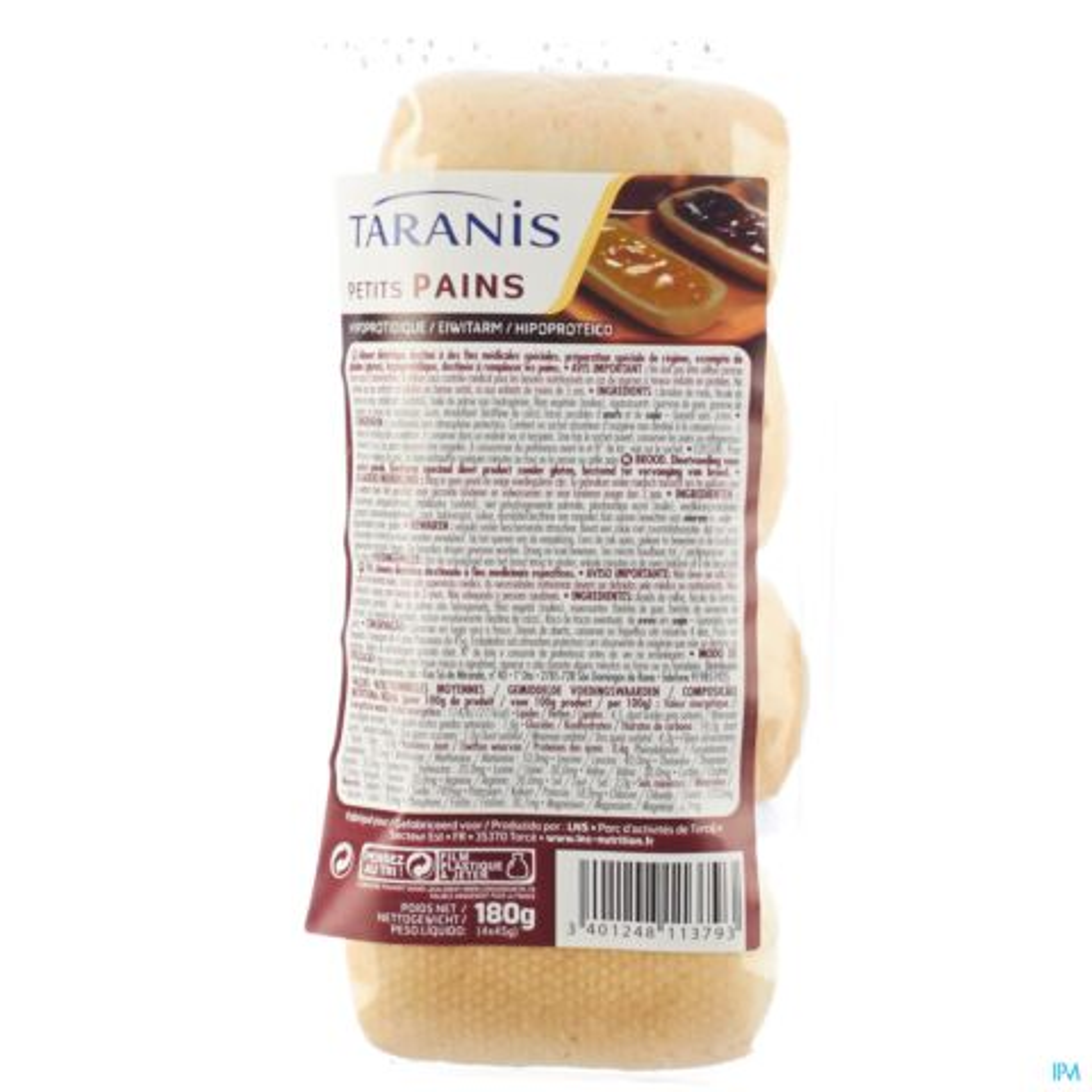Taranis petits pains plateau 4x45g 4634