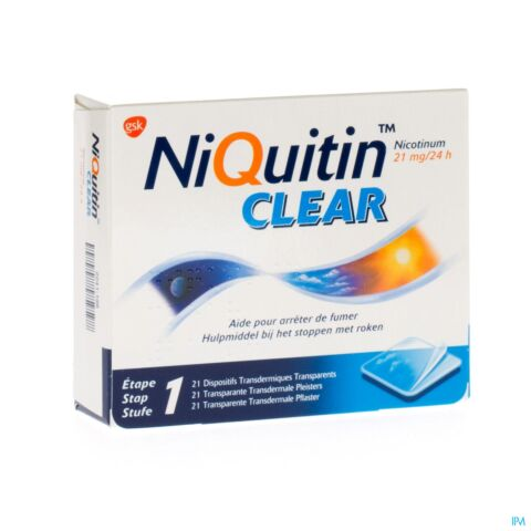 NiQuitin Clear Patch 21mg 21 Patchs