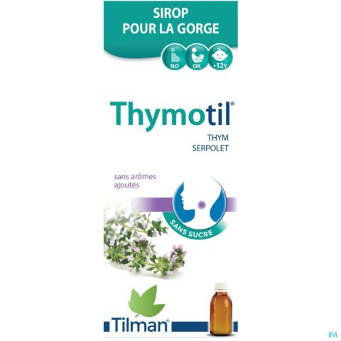 Thymotil Sirop Sans Sucre Gorge Irritée Flacon 150ml