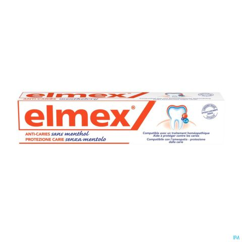 Elmex Dentifrice Sans Menthol Tube 75ml