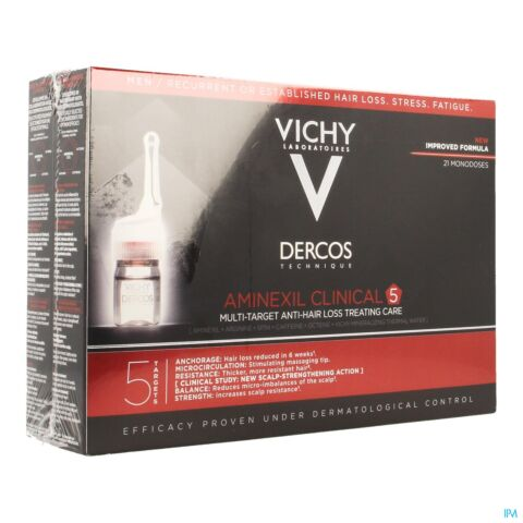 Vichy Dercos Aminexil Clinical 5 Hommes 6ml x 21 Ampoules