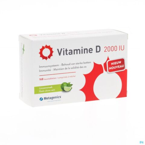 VITAMINE D 2000IU COMP 168 METAGENICS