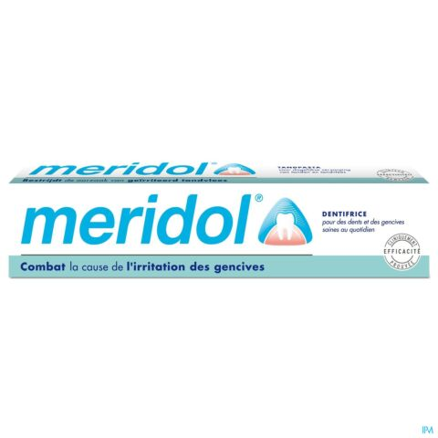 Meridol Dentifrice Anti Plaque Dentaire Irritation des Gencives Tube 75ml