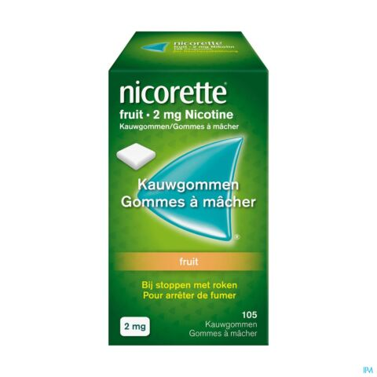 Nicorette Fruit 2mg Nicotine 105 Gommes à Mâcher
