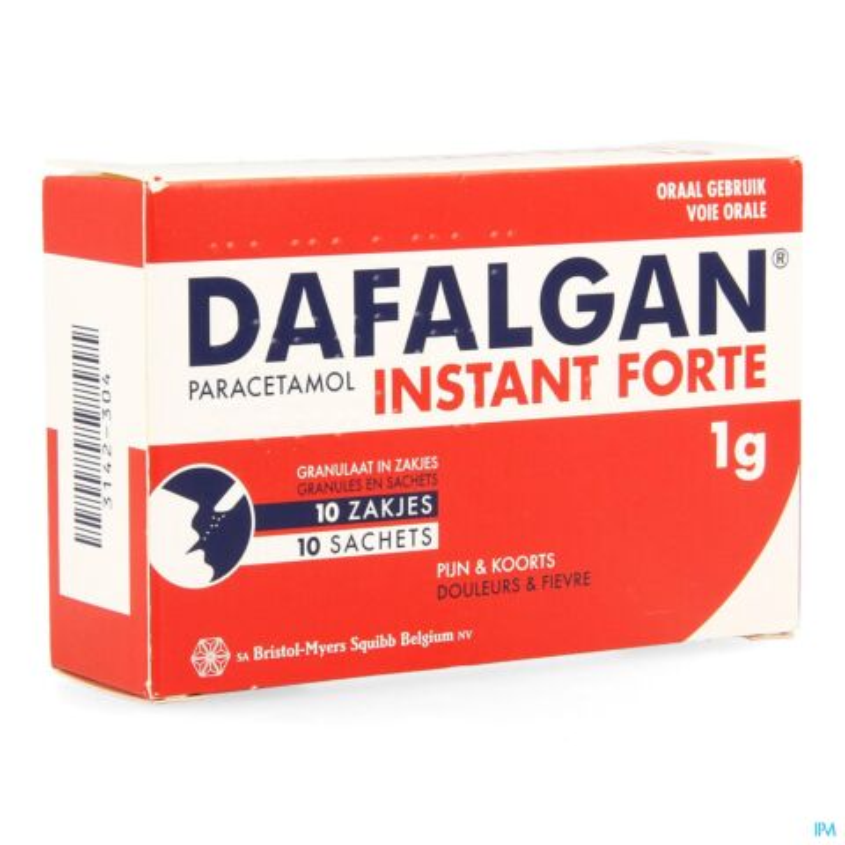 Dafalgan Adultes Instant Forte 1g 10 Sachets