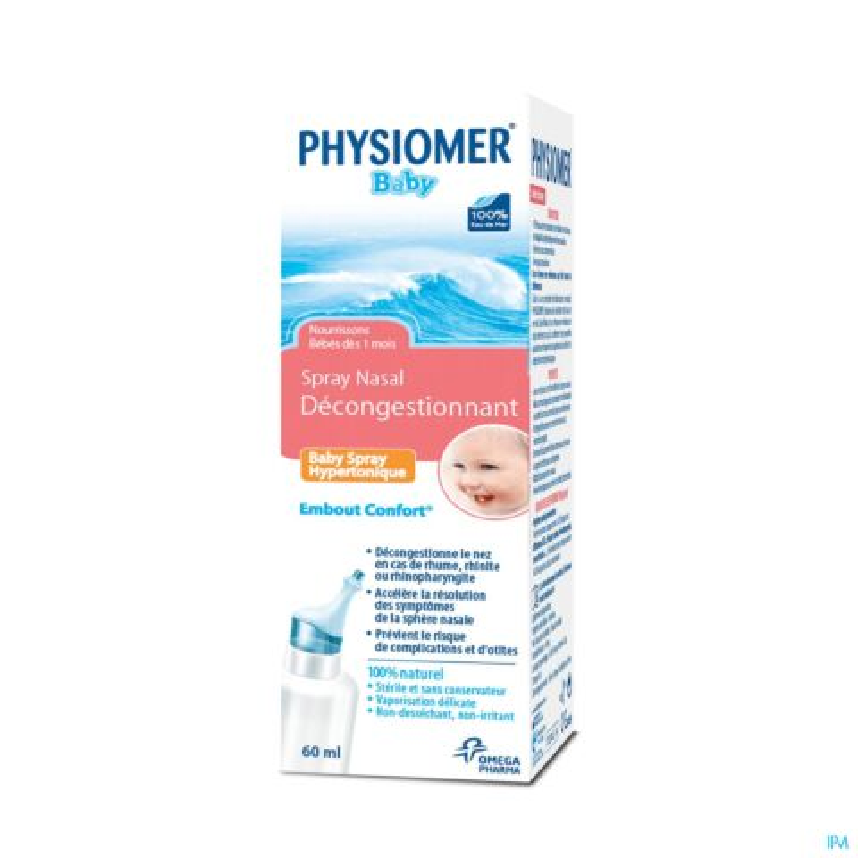 Physiomer Baby Spray Hypertonique Décongestionnant 60ml