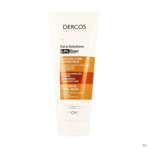 Vichy Dercos Kera-Solutions Masque 2 min. Réparateur Tube 200ml
