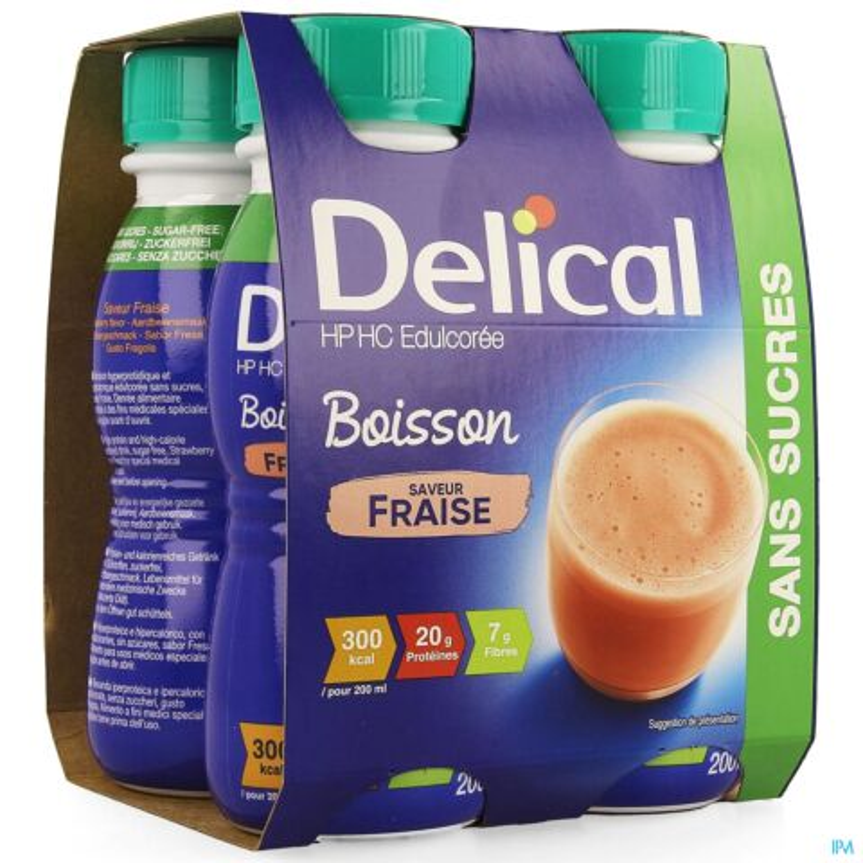 Delical Boisson Hp Hc Ssucre Fraise 4x200ml