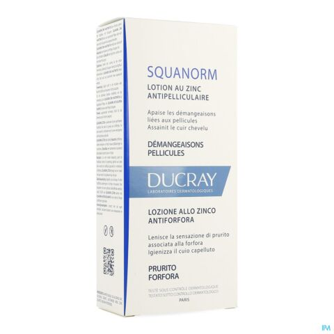 Ducray Squanorm Lotion Antipelliculaire au Zinc Flacon 200ml