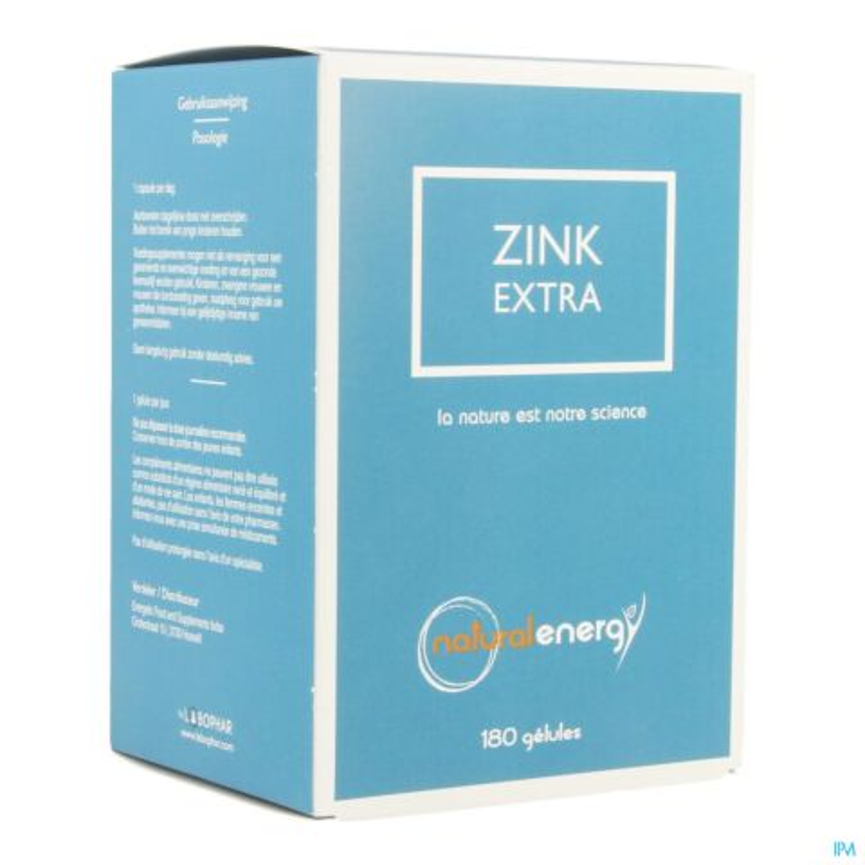 Natural Energy Zink Extra 180 Gélules