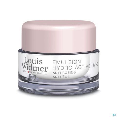 Louis Widmer Emulsion Hydro-Active UV30 Sans Parfum Pot 50ml