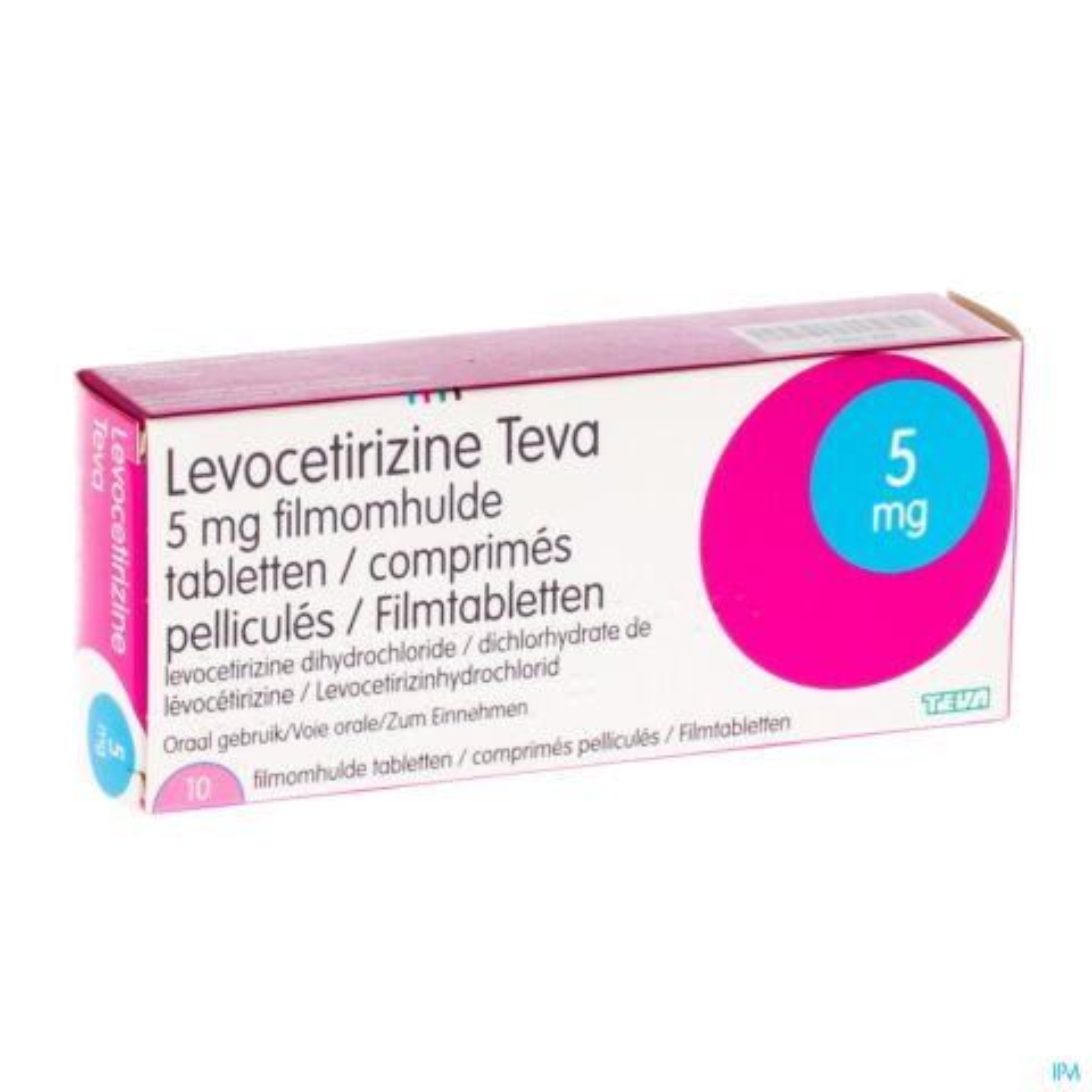LEVOCETIRIZINE TEVA 5 MG COMP 10