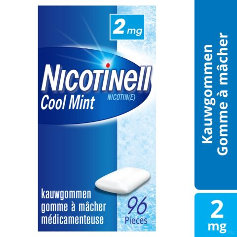 Nicotinell Cool Mint 2mg 96 Gommes à Mâcher