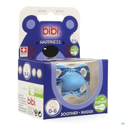 Bibi Happiness Natural Sucette Wild Baby 0-6m 1 Pièce