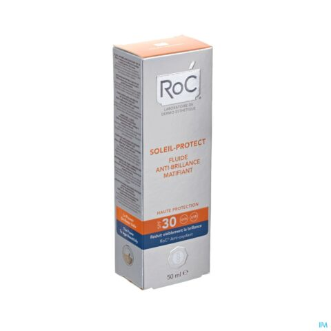 Roc Soleil-Protect Fluide Anti-Brillance Matifiant IP30 Tube 50ml