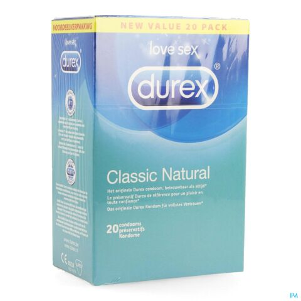 Durex Classic Natural 20 Préservatifs