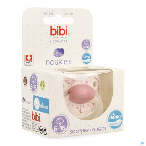 Bibi Happiness Dental Sucette Noukie's Lola 6-16m 1 Pièce