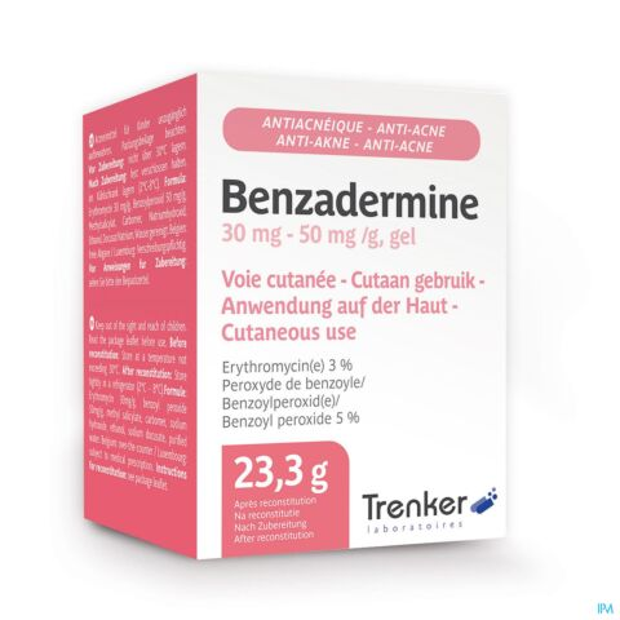 Benzadermine 30mg-50mg/g Gel Anti-Acnéique Pot 23,3g