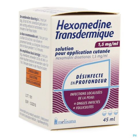 Hexomedine Transcutané Solution Flacon 45ml